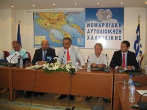 ο Υφυπουργός Πολιτισμού Τουρισμού κ. Γ. Νικητιάδης στην νομαρχία Χαλκιδικής