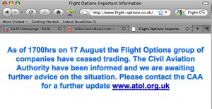 Η ανακοίνωση στο site της flight options/kiss
