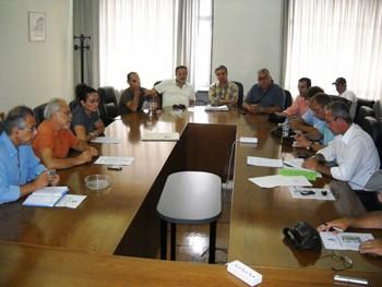 συνάντηση που είχε το Δ.Σ. της Ομοσπονδίας Εργαζομένων στον ΟΣΕ, με  εκπροσώπους των οικολόγων, το Σάββατο 11 Σεπτεμβρίου