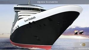 """Η βασίλισσα της Αγγλίας βάφτισε το νέο κρουαζιερόπλοιο της Cunard """"Queen Elizabeth"""""""