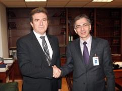 ο Υπουργός Περιφερειακής Ανάπτυξης & Ανταγωνιστικότητας, κ. Μιχάλης Χρυσοχοϊδης και ο Υπουργός Οικονομίας της Αρμενίας, κ. Tigran Davtyan