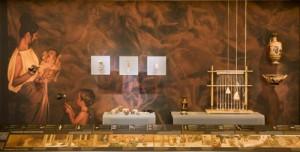 Λεπτομέρεια από τη θεματική ενότητα «Γυναικείες Δραστηριότητες» © Μουσείο Κυκλαδικής Τέχνης Φωτογραφίες: Μαριλένα Σταφυλίδου, Γιώργος Φαφαλής
