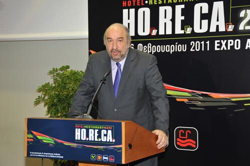 Την 6η διεθνή έκθεση HORECA 2011 εγκαινίασε ο υφυπουργός Πολιτισμού και Τουρισμού κ. Γιώργος Νικητιάδης