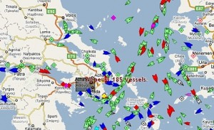 Greece Live Ships Map – Aegean, Ionian Sea – Vessel Traffic System