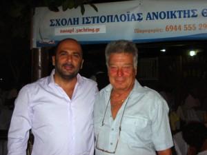 Ο Πρόεδρος του Ομίλου κ. Γιάννης Ζερμπίδης με τον κ. Νίκο Βολάκο