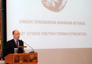42η Ετήσια Τακτική ΓΣ ΕΞΑΑ - Η Αθήνα και ο Τουρισμός της κινδυνεύει στο σύνολό της απ' όλα - όσα είτε δεν επιλύθηκαν εγκαίρως, είτε προστέθηκαν στα υπάρχοντα και δεν αντιμετωπίζονται, εξήγησε ο Πρόεδρος των ξενοδόχων της Αθήνας- Αττικής κ. Γ. Α. Ρέτσος