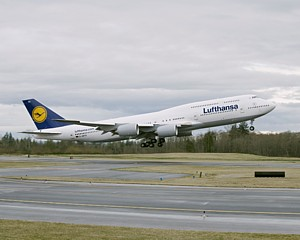 First Lufthansa Boeing 747-8 arrives in Frankfurt