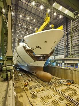 New York's ship Norwegian Breakaway takes a bow