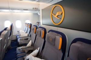 Economy-Class-Sitze in der A380