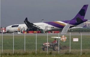 Airbus «γλίστρησε» από τον αεροδιάδρομο στην Μπανγκόκ