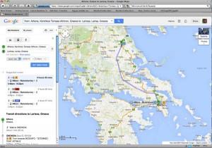 Trainose-google maps-transit