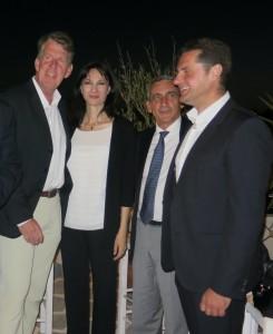 Ελενα Κουντουρα με πρόεδρο της TUI Friedrich Joussen