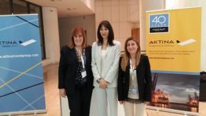 Η αν.Υπουργός Τουρισμού, Έλενα Κουντουρά με στελέχη του Aktina Travel Group στο περίπτερο της εταιρείας