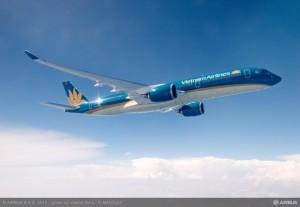 A350 XWB VIETNAM AIRLINES IN FLIGHT_