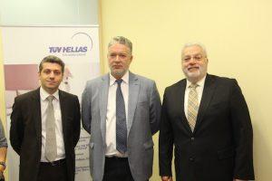 Από αριστερά_Ξενοφών Πετρόπουλος, Υπεύθυνος Επικοινωνίας ΣΕΤΕ, Ηλίας Κικίλιας, Σάββας Πελτέκης