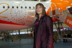 EASYJET CELEBRATE THE BIRTHDAY  AT THEIR HEADQUATERS IN LUTON TODAY. EASYJET CEO CAROLYN McCALL