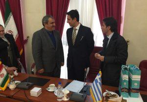Ο ΓΓ ΕΟT Δημήτρης Τρυφωνόπουλος και ο Ιρανός ομόλογος του Morteza Rahmani Movahed