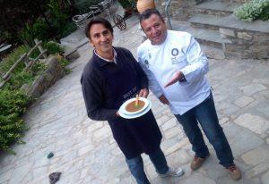 Χρήστος Χριστοδούλου και Βασίλης Χαιριστανίδης από το restaurant Βίραγγας
