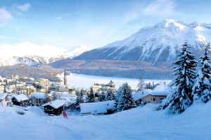Χριστούγεννα στην Ελβετία, Σεν Μοριτζ και Αλπικό τρένο