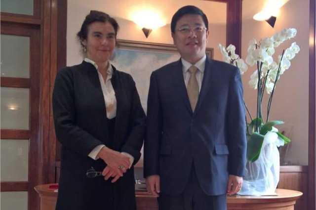 Συνάντηση της Υπουργού Πολιτισμού & Αθλητισμού, με τον Πρέσβη της Λαϊκής Δημοκρατίας της Κίνας στην Αθήνα