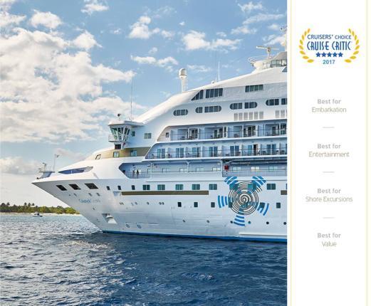 Η Celestyal Cruises απέσπασε πέντε κορυφαία βραβεία στα Cruise Critic Cruisers' Choice Awards 2017