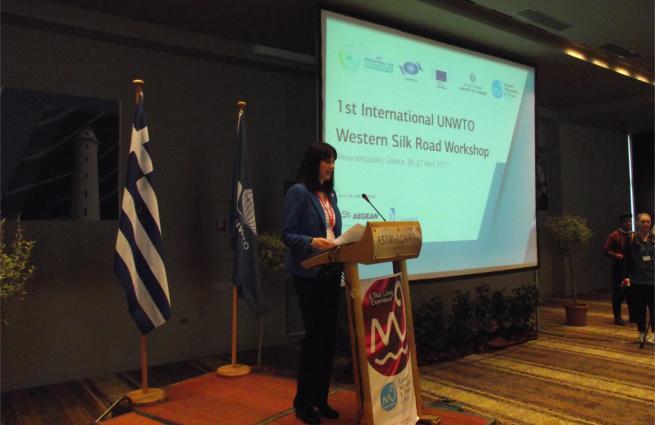 Υπουργός Τουρισμού κ. Έλενα Κουντουρά