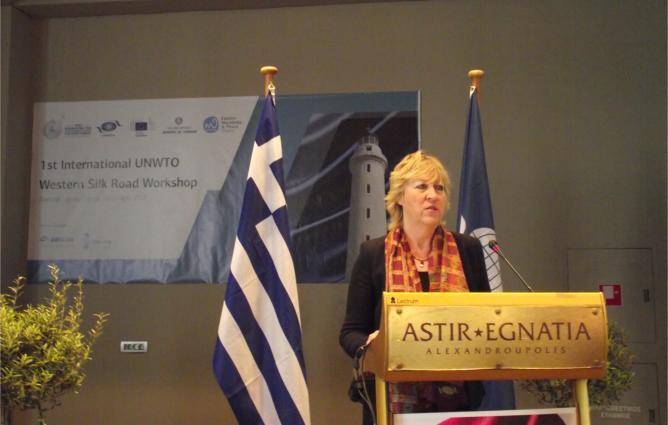 Επικεφαλής του Προγράμματος «Δρόμος του Μεταξιού» του Παγκόσμιου Οργανισμού Τουρισμού κ. Alla Peressolova