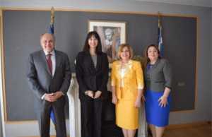 Συνάντηση της Υπουργού Τουρισμού Έλενας Κουντουρά με την υποψήφια της Αιγύπτου για τη θέση της Γενικής Διευθύντριας της UNESCO, Moushira Khattab