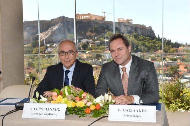 Ο κ. Δημήτρης Γερογιάννης, Διευθύνων Σύμβουλος της AEGEAN και ο κ. Ευτύχιος Βασιλάκης, Αντιπρόεδρος της AEGEAN.