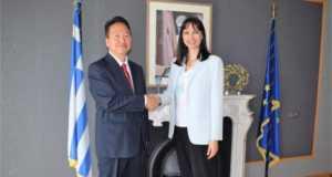 Συνάντηση της Υπουργού Τουρισμού Έλενας Κουντουρά με το νέο Ιάπωνα Πρέσβη
