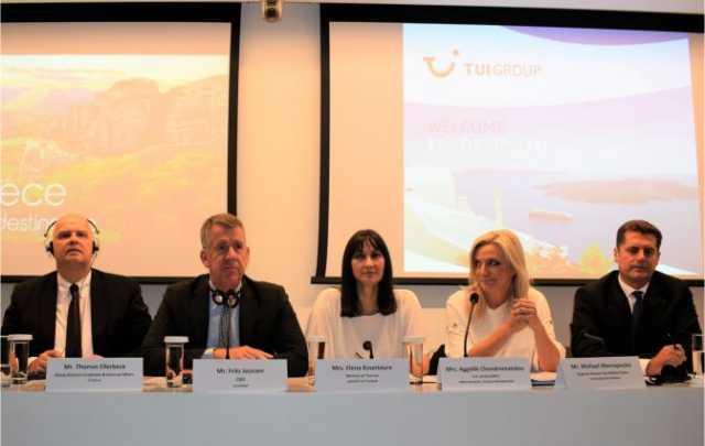 Σε στενή στρατηγική συνεργασία το Υπουργείο Τουρισμού και ο Όμιλος TUI