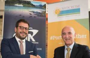 Airam Diaz Pastor, MedCruise President with Kerry Anastassiadis, CLIA Europe President