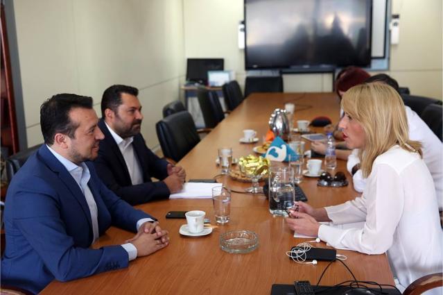 Συνάντηση του Υπουργού ΨΗΠΤΕ Νίκου Παππά με την Περιφερειάρχη Ρένα Δούρου - Δημιουργία Film Office στην Αττική