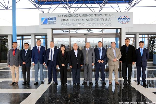 Ο Πρόεδρος της Βουλής των Ελλήνων επισκέφτηκε τα κεντρικά γραφεία της ΟΛΠ Α.Ε.