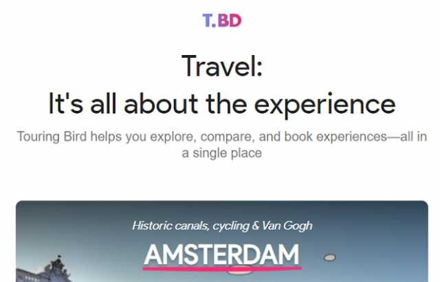 Google introduces new travel guide website 'Touring Bird'