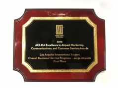LOS ANGELES INTERNATIONAL AIRPORT AWARDED BEST OVERALL CUSTOMER SERVICE PROGRAM BY AIRPORTS COUNCIL INTERNATIONAL – NORTH AMERICA