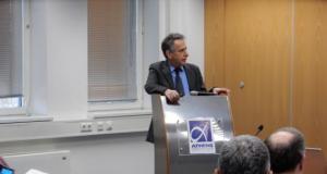 Ο Πρόεδρος της ΕΔΑΑΠ κ. Αθανάσιος Μπίνης