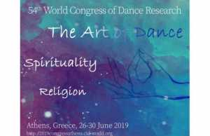 54th World Congress of Dance Research Athens, 26-30 June 2019