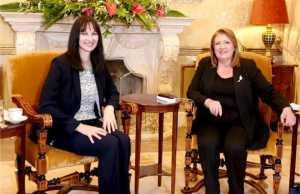 Την Υπουργό Τουρισμού, Έλενα Κουντουρά, υποδέχτηκε στο Προεδρικό Μέγαρο της Μάλτας, η Πρόεδρος, ΑΕ Marie-Louise Coleiro Preca