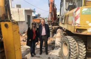 Τους επόμενους μήνες αναμένεται η ολοκλήρωση του έργου Αντιπλημμυρικής Προστασίας, Κατασκευής Αποχέτευσης Ομβρίων του κυρίως οικισμού Καλυβίων – Δ' Φάση