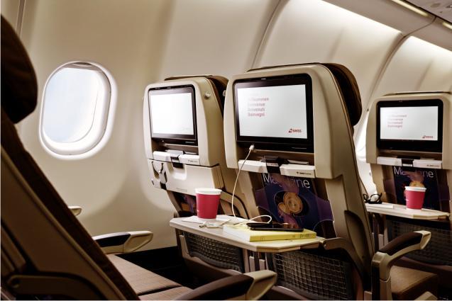 SWISS A340 Economy Class