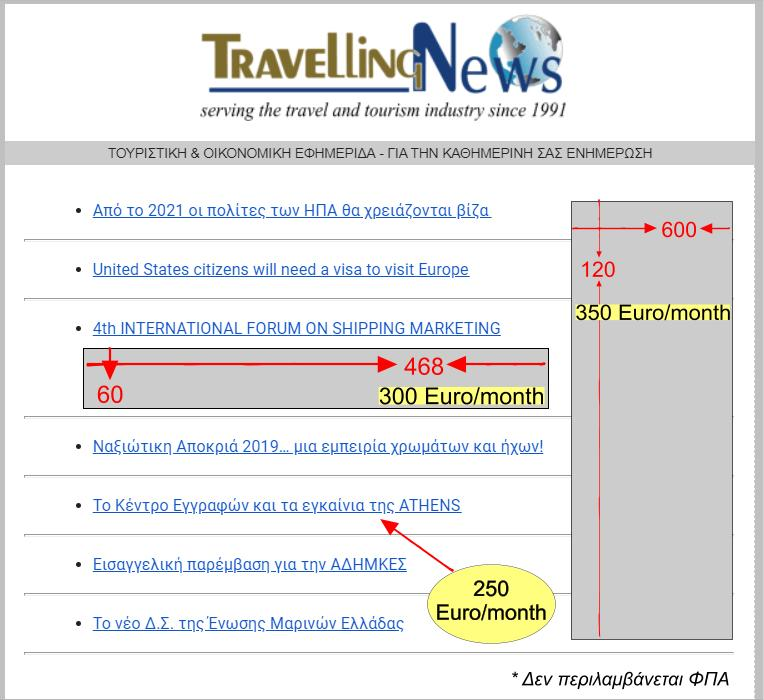 Travelling News Daily newsletter