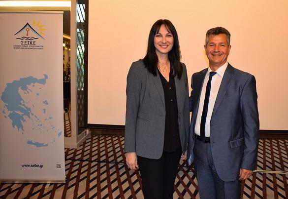 Η Υπουργός με τον Πρόεδρο της ΣΕΤΚΕ κ. Παναγιώτη Τοκούζη