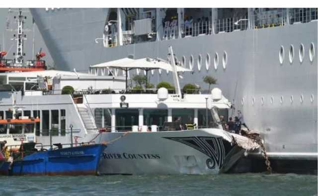 Cruise ship MSC Opera smashes into Venice dock leaving at least five injured - watch video