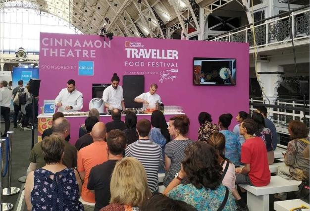 Successful participation of the Region of Attica in the National Geographic Traveller Food Festival in London