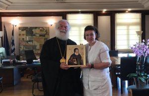 Επίσκεψη του Μακαριωτάτου Πάπα και Πατριάρχου Αλεξανδρείας και πάσης Αφρικής Θεόδωρου Β' στην υπουργό Πολιτισμού, κ. Λίνα Μενδώνη