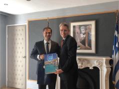 Συνάντηση Χ. Θεοχάρη με τον πρέσβη των ΗΠΑ κ. Geoffrey Pyatt
