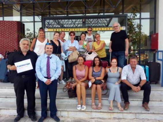 Η ομάδα των τουριστικών πρακτόρων του βελγικού Τ.Ο Τranseurope, που επισκέφθηκαν την Αττική και την Μεσσηνία.