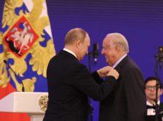 Παρασημοφόρηση του Νίκου Δασκαλαντωνάκη από τον Πρόεδρο της Ρωσικής Ομοσπονδίας Βλαντιμίρ Πούτιν