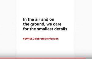 Η SWISS γιορτάζει την τελειότητα με μια νέα, «ατελή» διαφημιστική καμπάνια